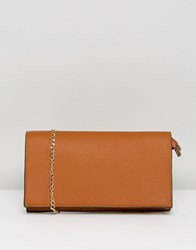 Amy Lynn Across Body Bag With Chain Strap Tan
