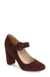 Sole Society Women's Selma Mary Jane Pump Raisin Suede