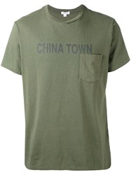 Engineered Garments Printed T Shirt Men Cotton Xl Green