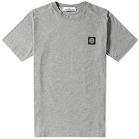 Stone Island Patch Logo Tee Grey