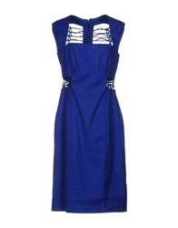 Nicole Miller Artelier Knee Length Dresses Bright Blue