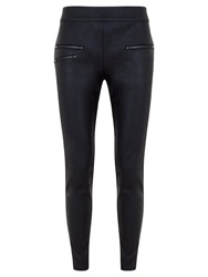 Mint Velvet Leather Look Leggings Black