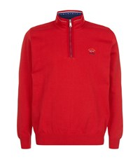 Paul And Shark Half Zip Knit Sweater Male Red
