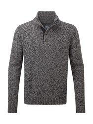 Tog 24 Men's Falmouth Mens Knit Button Neck Black