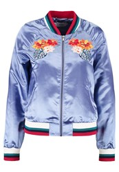 Only Onlhavanna Flower Bomber Jacket Blue
