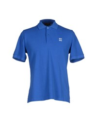 Le Mont St Michel Topwear Polo Shirts Men Blue
