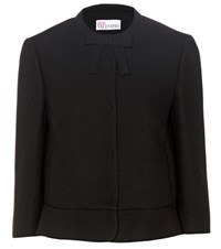 Red Valentino Cropped Crepe Jacket Black