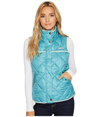 Columbia Harborside Diamond Quilted Vest Teal Light Cloud Women's Vest Blue