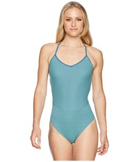 Carve Designs Waikiki One Piece Julep Stripe Swimsuits One Piece Blue