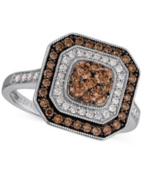 Le Vian Chocolatier Deco Estate Collection Diamond Ring 3 4 Ct. T.W. In 14K White Gold