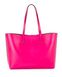 Tom Ford Small T Saffiano Tote Bag Pink