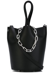 Alexander Wang Chain Top Handles Tote Women Cotton Leather One Size Black