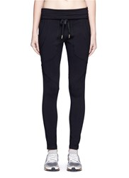 Alala Rolldown Waist Drawstring French Terry Sweatpants Black