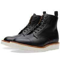 Mark Mcnairy Vibram Sole Derby Boot Black Waxy