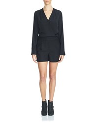1.State Long Sleeve Romper Rich Black