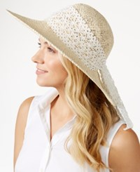 Inc International Concepts Crochet Scarf Floppy Hat Only At Macy's Natural White