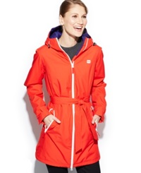 Helly Hansen Long Bykkle Hooded Raincoat Alert Red