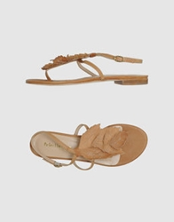 Peter Flowers Thong Sandals Camel