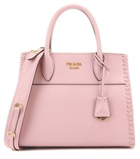 Prada Saffiano Leather Tote Pink