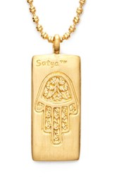 Women's Satya Jewelry Hamsa Pendant Necklace Gold