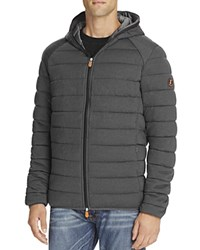 Save The Duck Hooded Puffer Jacket Charcoal Grey
