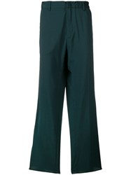 N 21 No21 Striped Loose Trousers Green