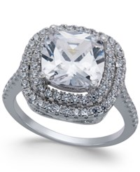 Giani Bernini Cubic Zirconia Double Halo Ring In Sterling Silver Only At Macy's