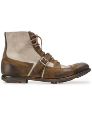 Church's Panelled Oxford Boots Neutrals