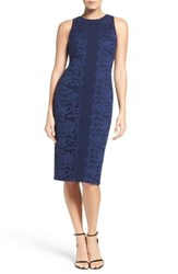 Maggy London Women's Lace And Crepe Midi Dress