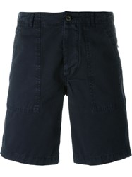 Maison Kitsune Canvas Bermuda Shorts Blue