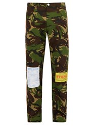 Martine Rose Camouflage Cotton Blend Trousers