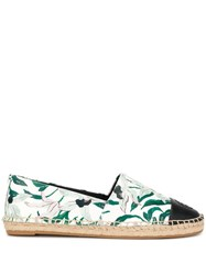 Tory Burch All Over Print Espadrilles White