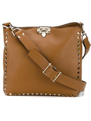 Valentino Garavani Rockstud Messenger Bag Brown