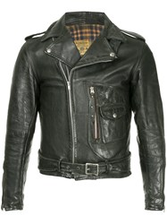 Fake Alpha Vintage 1940S Motorcycle Jacket Black