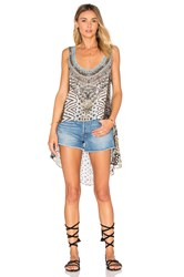 Camilla Long Back Scoop Neck Singlet Top Gray