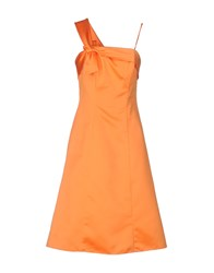 Carlo Pignatelli Knee Length Dresses Orange