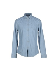 Bikkembergs Denim Shirts Blue