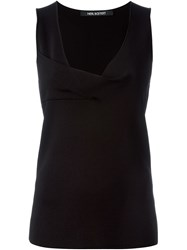 Neil Barrett Cowl Neck Tank Top Black