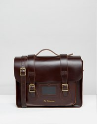 Dr. Martens Dr 15 Inch Leather Satchel Brown