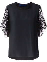 Sharon Wauchob Mesh Sleeved Top Black