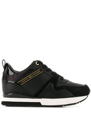 Tommy Hilfiger Leather Lace Up Sneakers Black