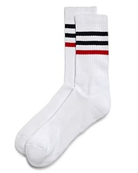 Bloomingdale's The Store At Striped Tube Socks White Navy Red