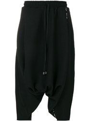Alchemy Cropped Drawstring Trousers Wool Polyester Polyamide Black