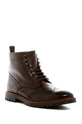 Base London Troop Wingtip Boot Brown