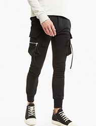 Rick Owens Black Mo Skinny Fit Cargo Joggers