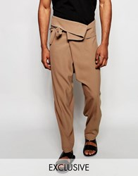 Reclaimed Vintage Wrap Pants Brown