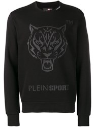 Plein Sport Tiger Embossed Sweatshirt Black
