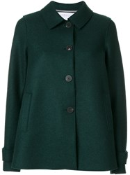 Harris Wharf London Short Button Coat Women Virgin Wool 46 Green