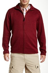 Timberland Bakers River Full Zip Sweater Red