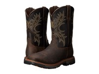 Ariat Workhog Wide Square Toe H20 Bruin Brown Coffee Cowboy Boots